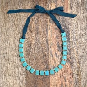 J. Crew statement necklace in light turquoise